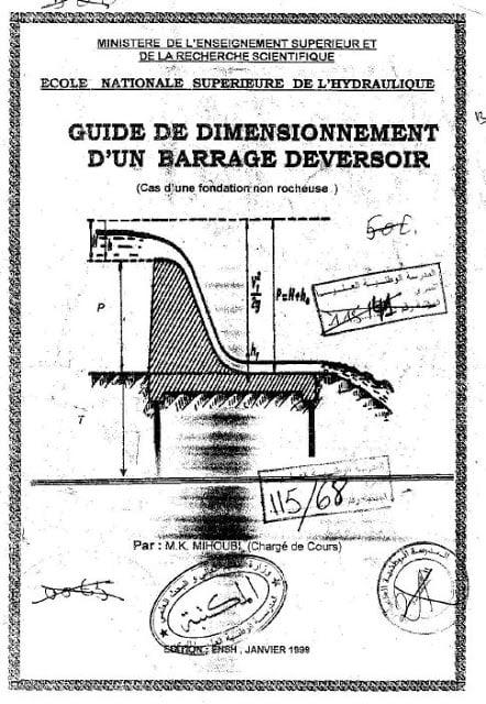 guide de dimensionnement d'un barrage deversoir