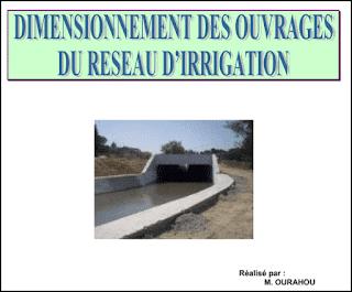 Dimensionnement des ouvrages d'irrigations