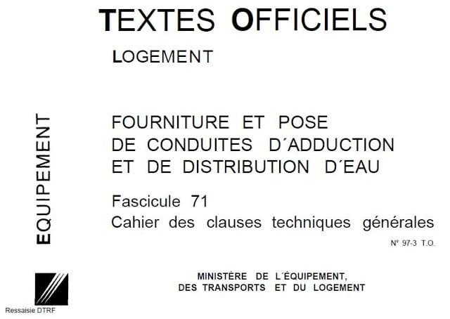 fascicule 71